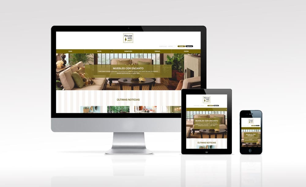WEB E-COMMERCE House Whith Art, Diseño grafico web